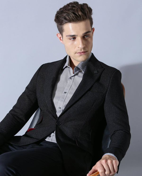 REWIND-MEN'S BLAZER- BLACK BLAZER RARE RABBIT