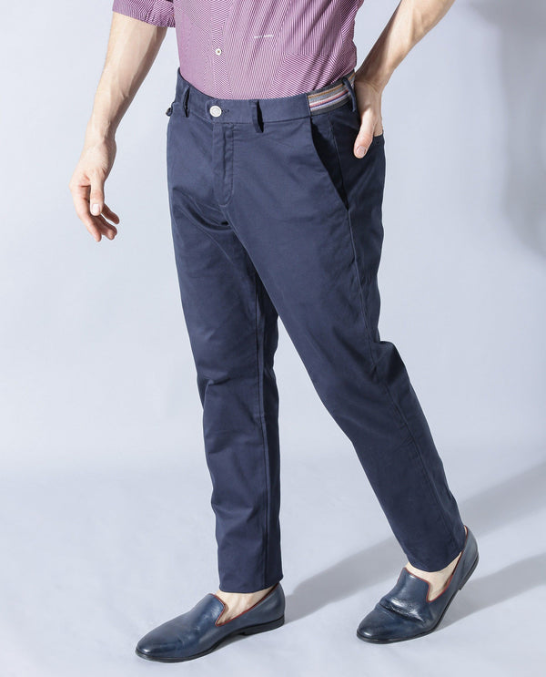 DARO-FL-NAVY TROUSERS RARE RABBIT
