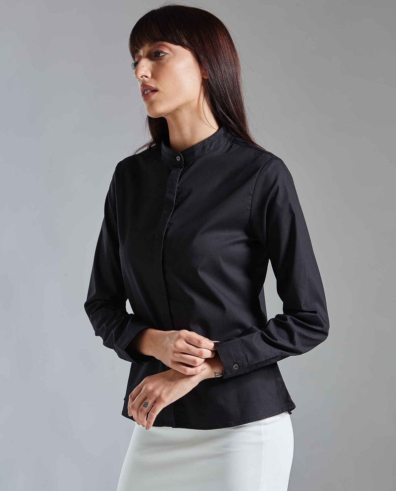 ISM 2-SLIM FIT SHIRT-BLACK TOP RAREISM