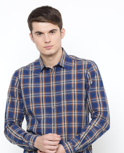 Gradon-Check shirt-Blue SHIRT RARE RABBIT