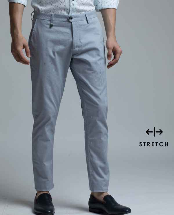 LEVANO-Detailed TROUSER/Chino-Light Blue TROUSERS RARE RABBIT