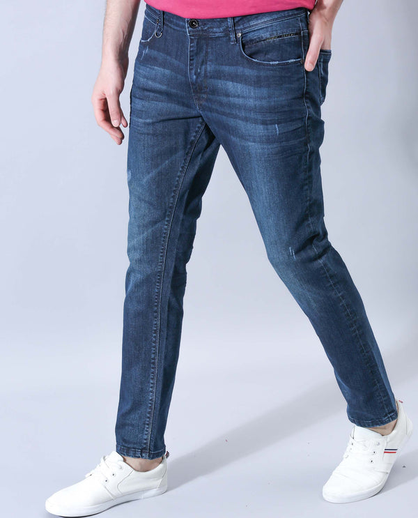 LITE-DENIM PANTS-BLUE DENIM PANT RARE RABBIT
