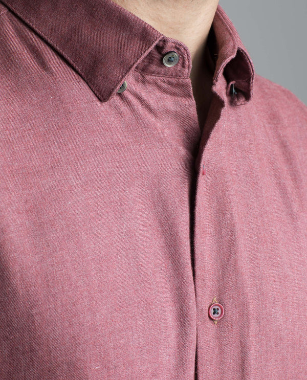 LOOP-Basic Shirt-MAROON SHIRT RARE RABBIT