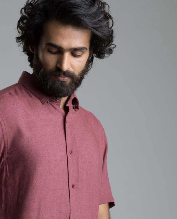 LOOP-Basic Shirt-MAROON