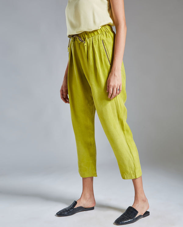 MAP-TAPERED TROUSER-GREEN TROUSERS RAREISM