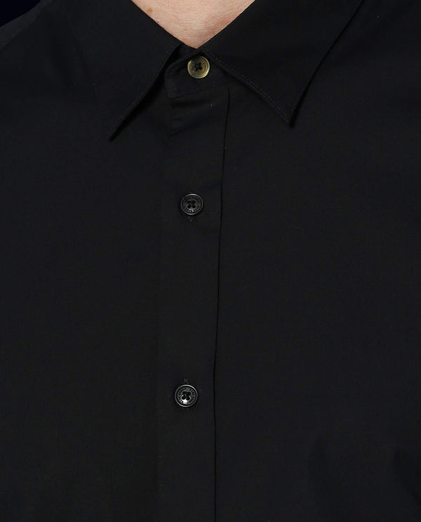 Stretch Lycra Shirt-Neutron-3-Black SHIRT RARE RABBIT