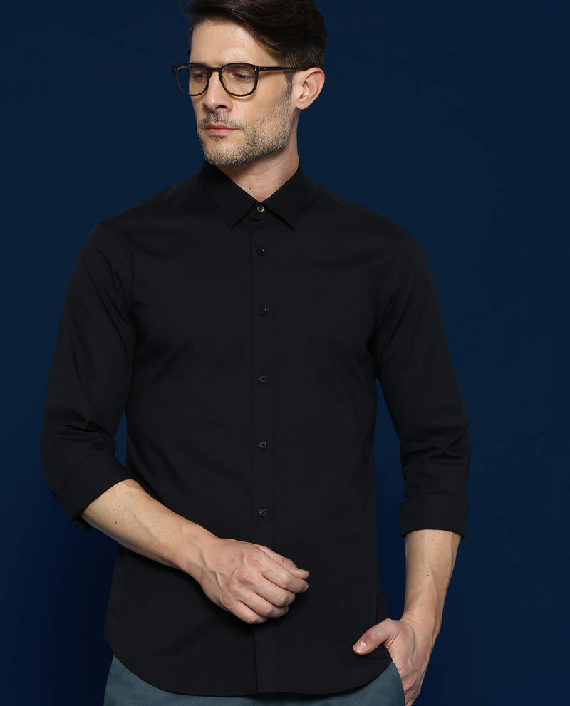 Stretch Lycra Shirt-Neutron-3-Black