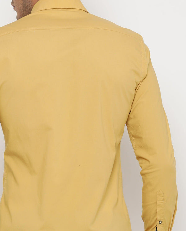 Stretch Lycra Shirt-Neutron-5-Yellow SHIRT RARE RABBIT