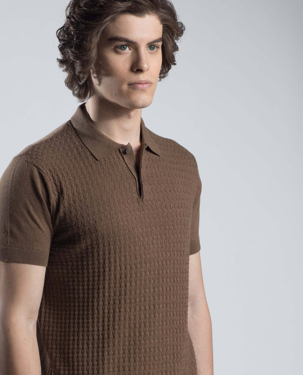 PAST-Polo T-shirt-BROWN