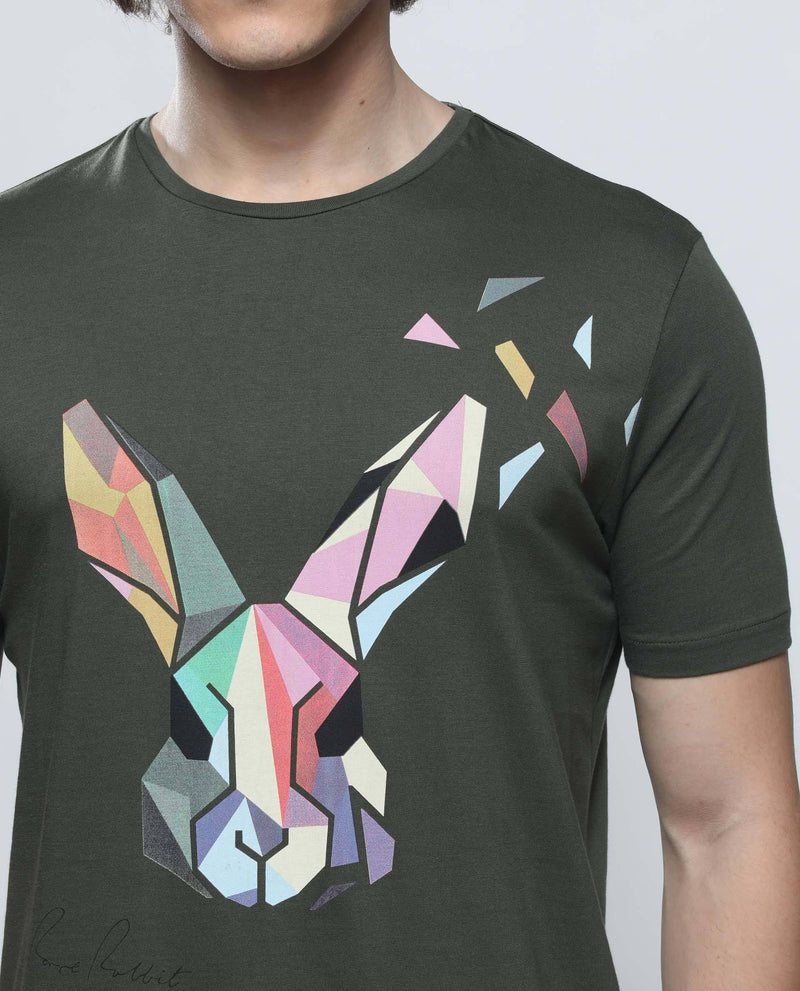 POLY-3-Graphic T-shirt-GREEN