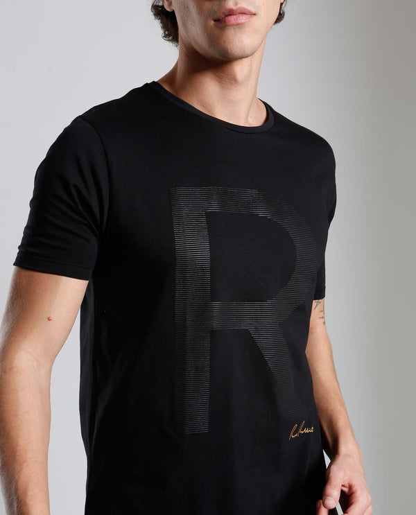 RAD- HIGH DEFINITION PRINT- BLACK T-SHIRT RARE RABBIT