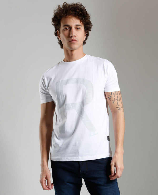 RAD- HIGH DEFINITION PRINT- WHITE T-SHIRT RARE RABBIT