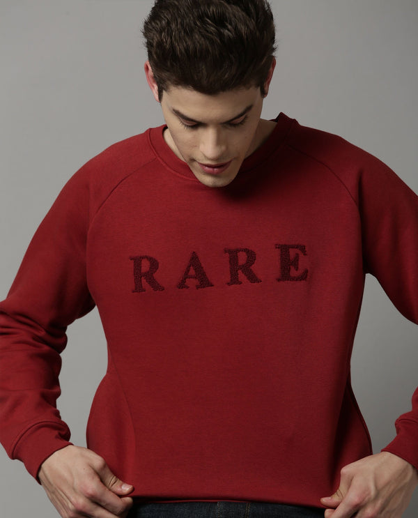 DUCE-SOLID SWEATSHIRT-RED SWEATSHIRT RARE RABBIT