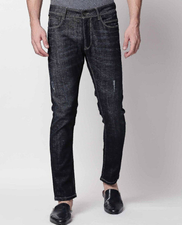 ROWDY-2-NAVY DENIM PANT RARE RABBIT