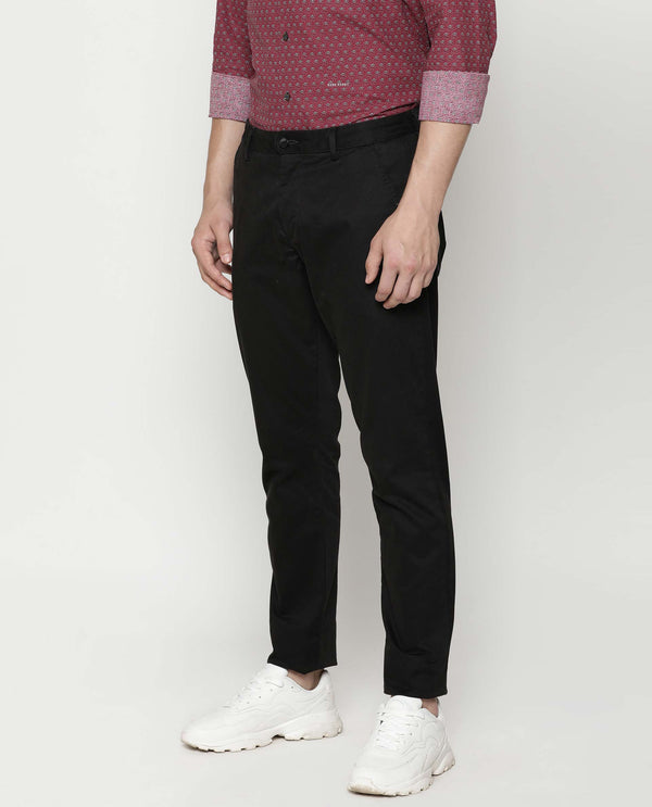 SACERO-2-SLIM FIT Trouser/CHINO-BLACK TROUSERS RARE RABBIT