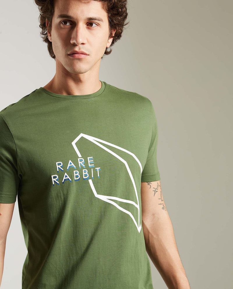 SENSE-Graphic T-shirt-GREEN T-SHIRT RARE RABBIT