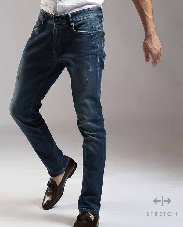 SERGIO-BLUE DENIM PANT RARE RABBIT