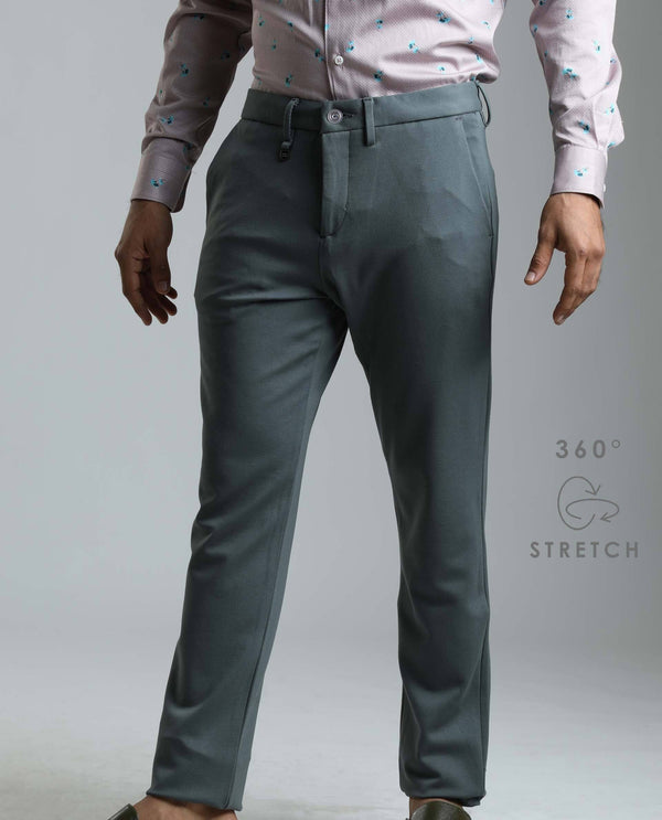 TRAWORK-3-KNIT TROUSER-GREY TROUSERS RARE RABBIT
