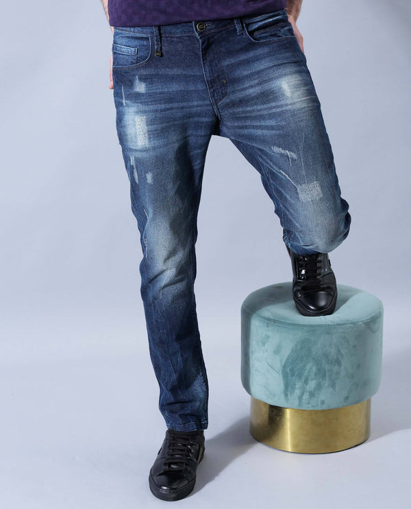 TRESKO-Casual Denims-BLUE DENIM PANT RARE RABBIT