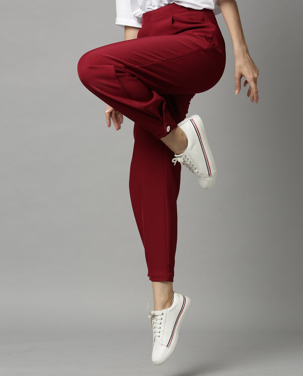 TRAIL-TAPERED TROUSER-MAROON TROUSERS RAREISM