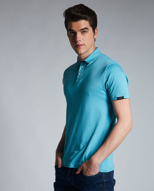 ZAP- LIQUID COTTON POLO - TURQ