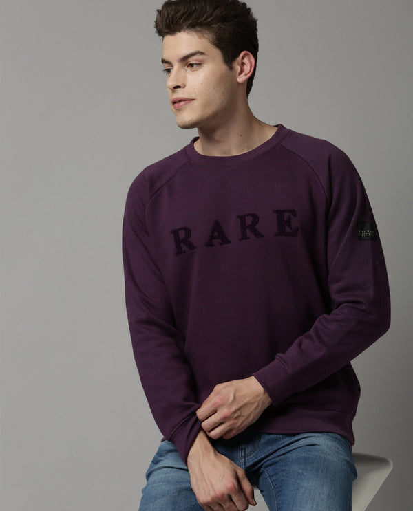 DUCE-SOLID SWEATSHIRT-PURPLE SWEATSHIRT RARE RABBIT