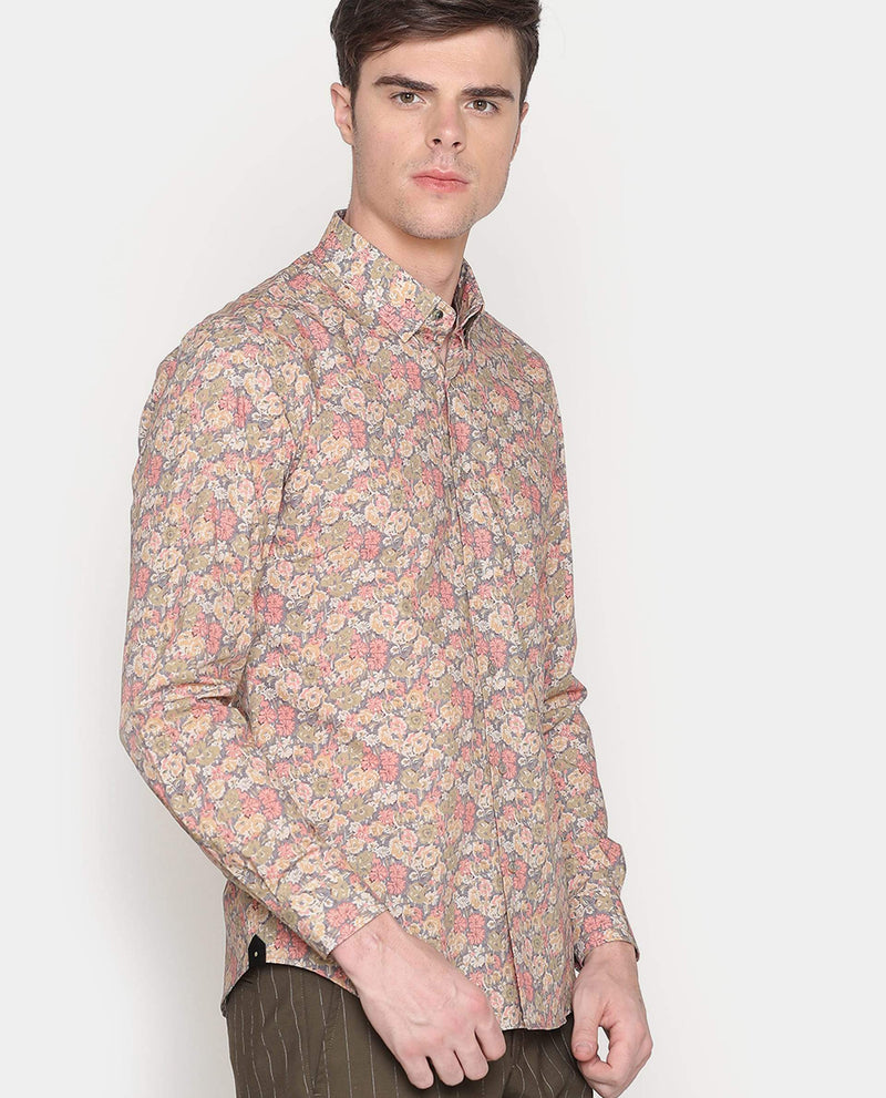 Bogo-Floral Shirt-Yellow