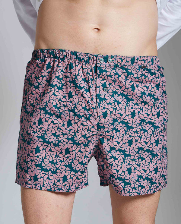 BOX 2-MEN'S FASHION BOXERS-GREEN BOXER RARE RABBIT