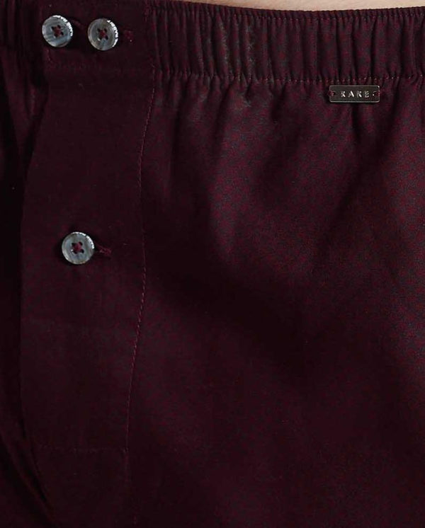 BOX 2-MEN'S COMFORT BOXERS-MAROON BOXER RARE RABBIT