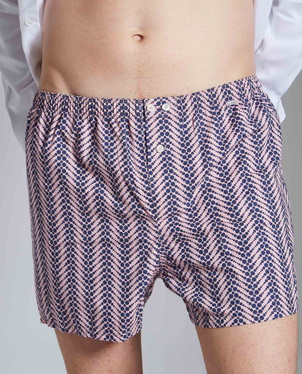 BOX 2-MEN'S FASHION BOXERS-PINK BOXER RARE RABBIT