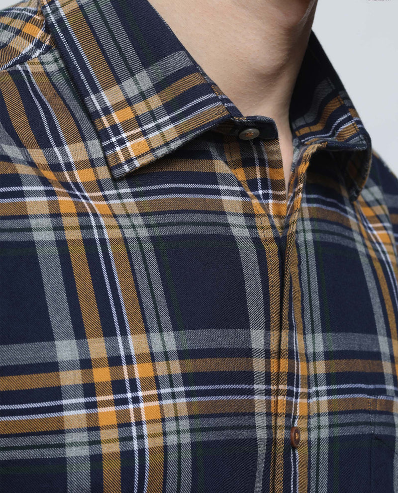BRIG-Plaid Shirt-NAVY