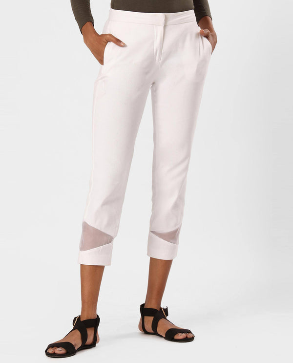 BROKE-TAPERED TROUSER-WHITE TROUSERS RAREISM