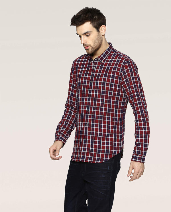 Primero-Check Shirt-Red SHIRT RARE RABBIT
