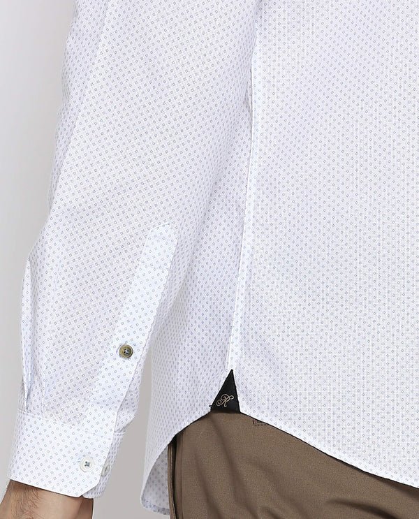 Quadra-Printed Shirt-White