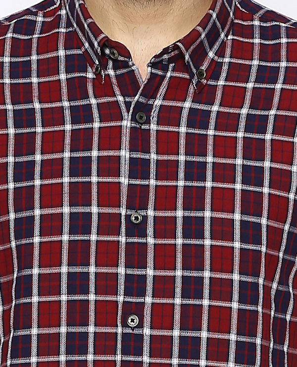 Primero-Check Shirt-Red