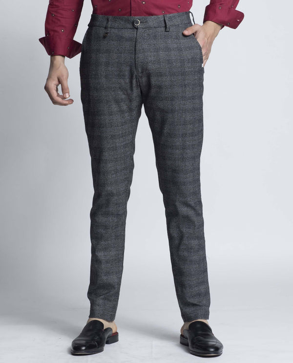 CHICAGO-Plaid Trouser-Grey