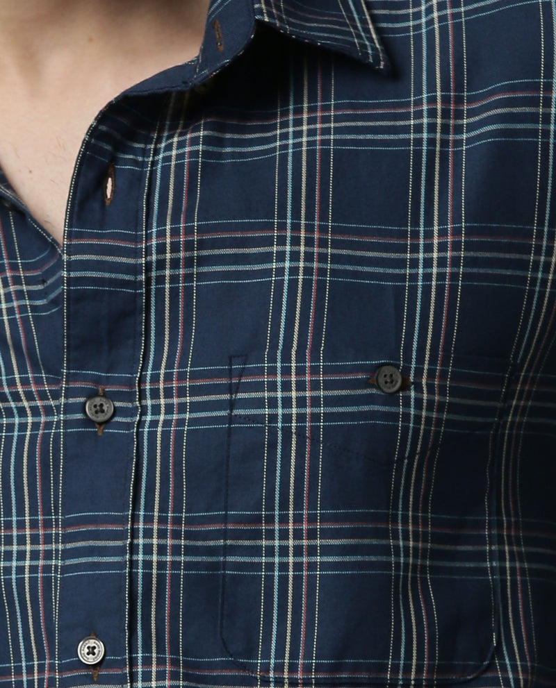 PETRONAS-OXFORD CHECK SHIRT-BLUE SHIRT RARE RABBIT