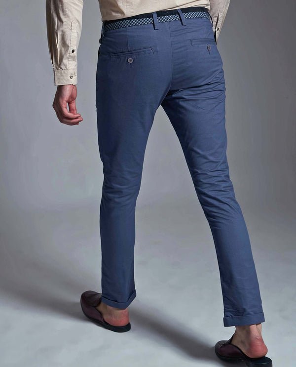 DARO 3-Slim Fit Trouser/Chino-BLUE TROUSERS RARE RABBIT
