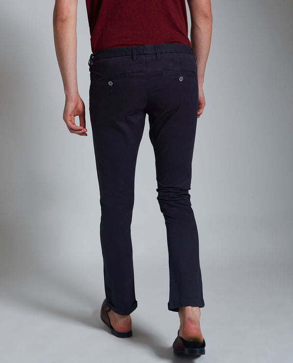 DARO 3-Slim Fit Trouser/Chino-NAVY TROUSERS RARE RABBIT