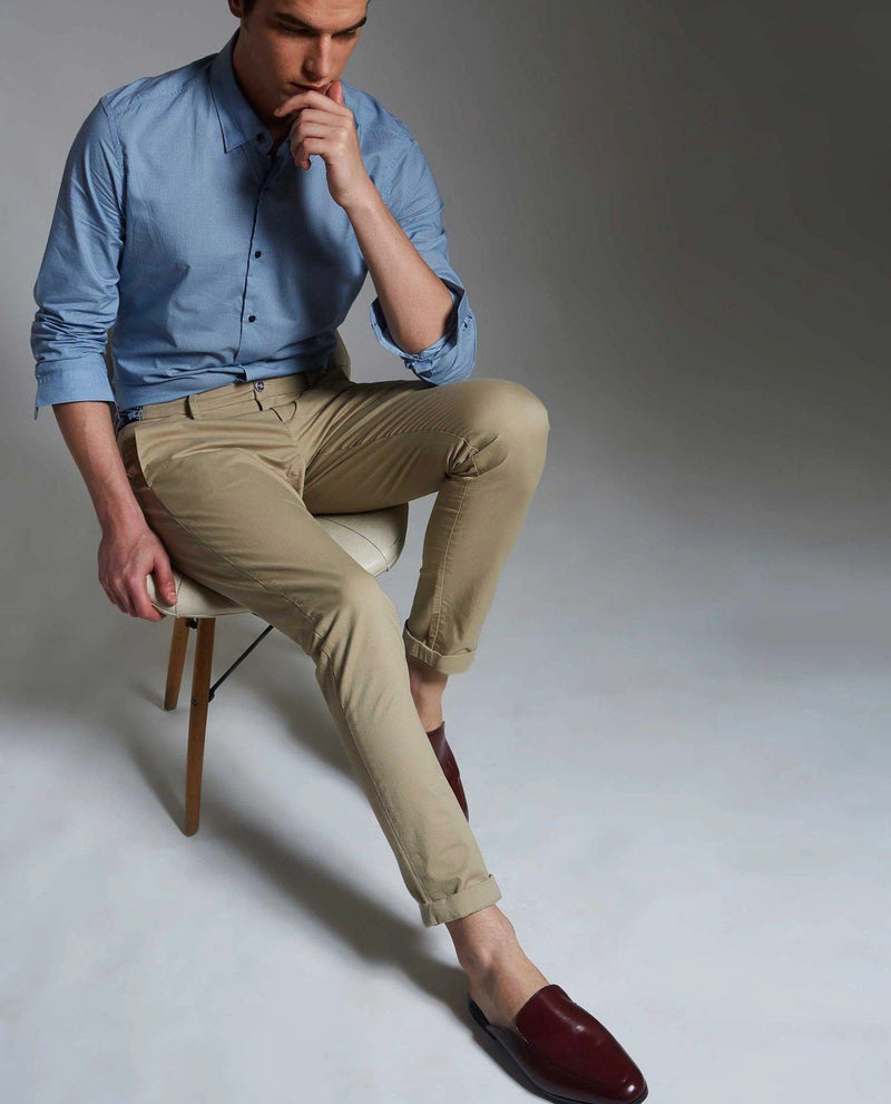DARO-4-Slim Fit TROUSER/Chino-BEIGE TROUSERS RARE RABBIT