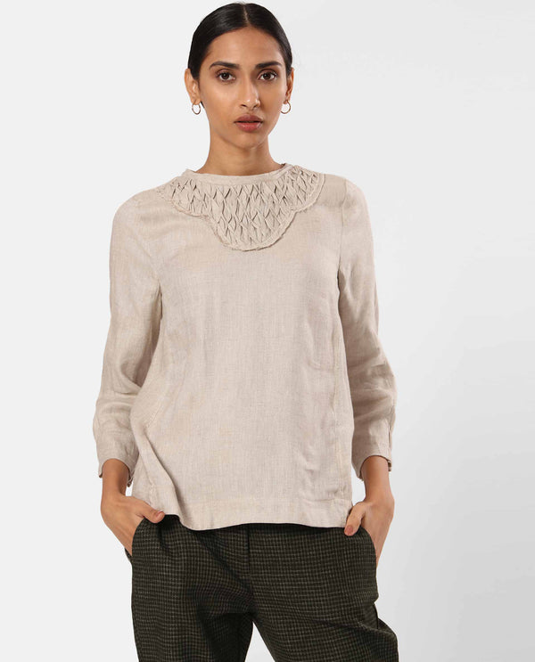 DIAMOND-Detailed Yoke-Beige