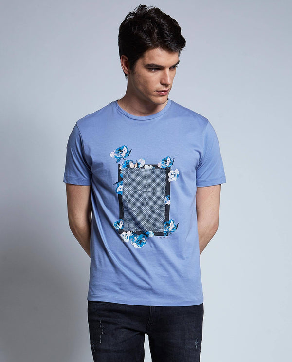 DREAMER-BLUE T-SHIRT RARE RABBIT