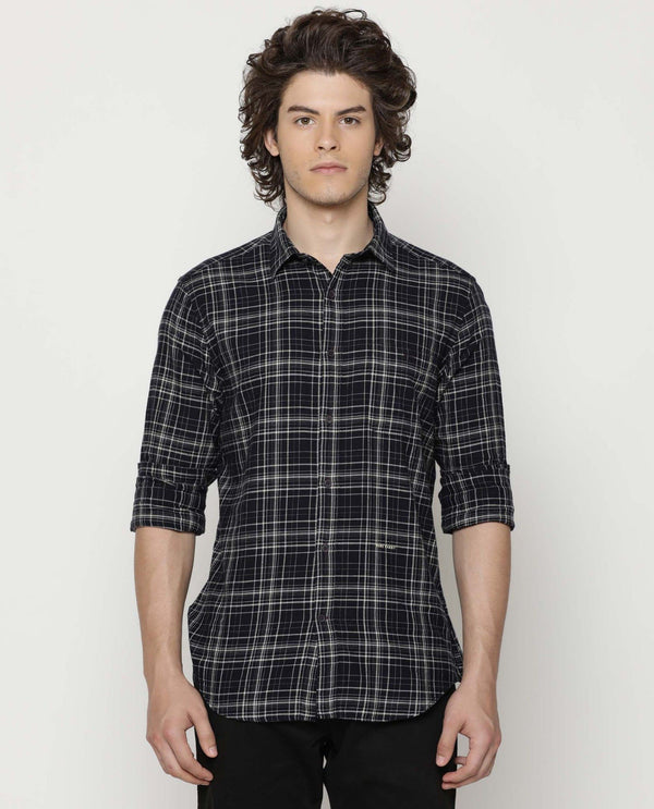 Jems-Check Shirt-Navy
