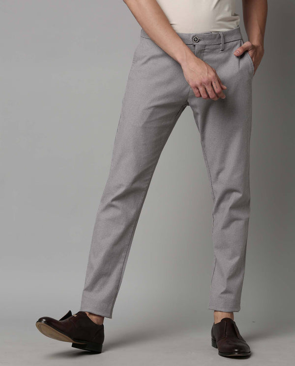 GOLF-HOUNDSTOOTH STRETCH TROUSER-BROWN TROUSER RARE RABBIT
