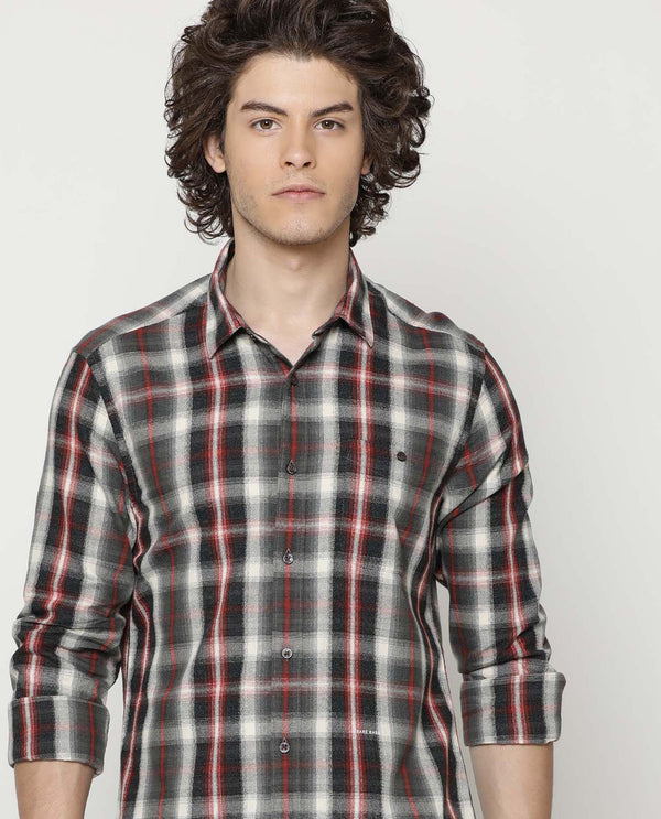 Grin-Check Shirt-Brown
