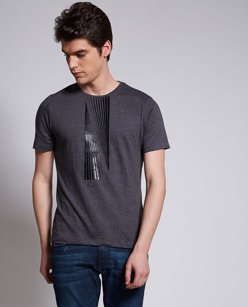 HILO-DARK GREY T-SHIRT RARE RABBIT