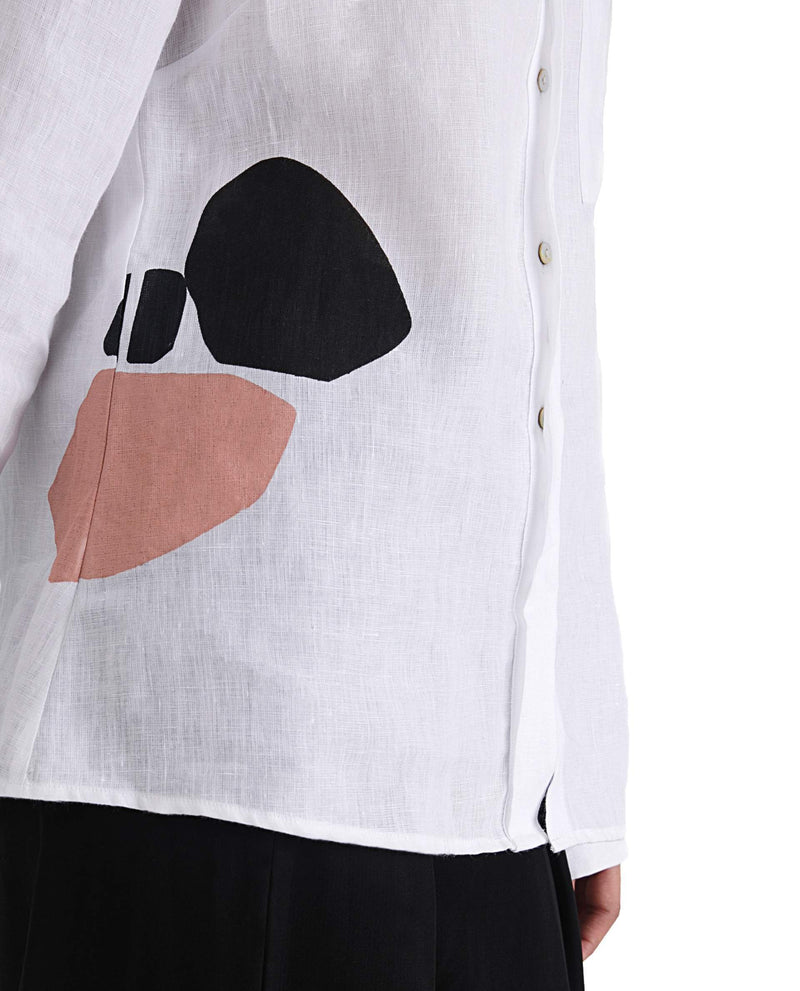 Joy - Abstract Top - White