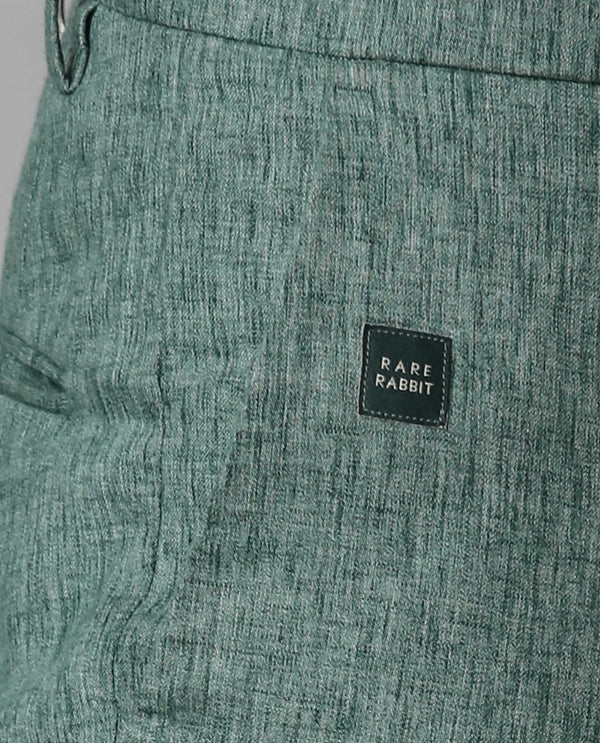 LINCON-2-SOLID LINEN TROUSER-GREEN TROUSERS RARE RABBIT