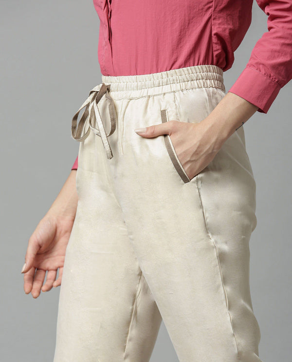 MAP-TAPERED TROUSER-BEIGE TROUSERS RAREISM