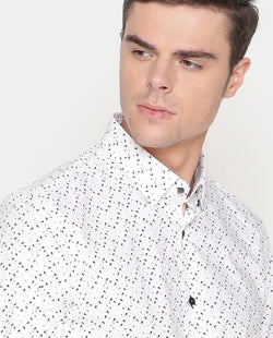 Pacbo-Printed Shirt-White